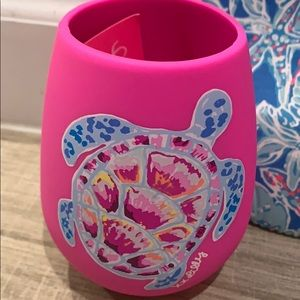 Lilly Pulitzer Silicone Wine 🍷 Tumbler